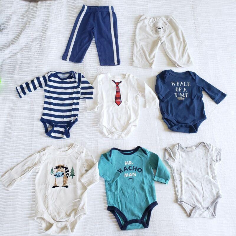 Lot 8 Baby Gap Boys 3-6 Mo Shirts Bodysuits Pants Carter