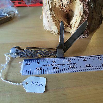 Vintage WW II knife Military issue 4 line Camillus knife (Lot#11463)