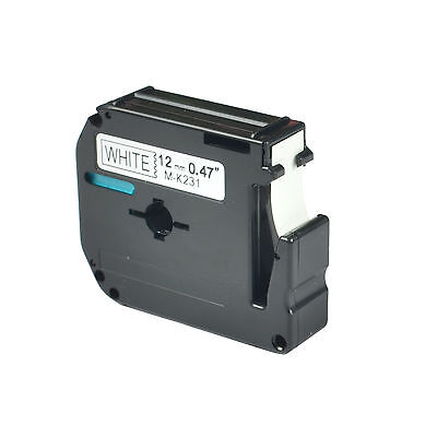 Label Tape M-k231 Mk231 M231 Black On White 12 Compatible For Brother P-touch