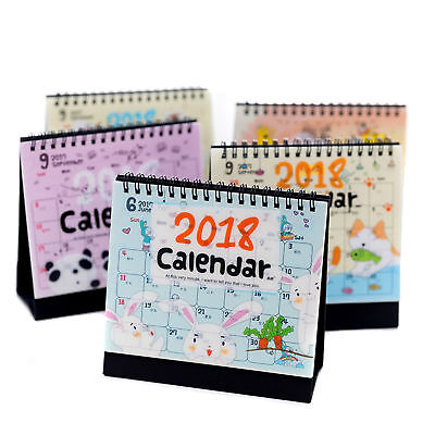 2018 Calendar Cute Cartoon Animal Desk Desktop Flip Stand Planner Memo Office