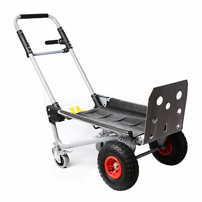 Hand Truck Dolly Steel 800 Lb Heavy Duty Dual Capacity Convertible Platform Cart