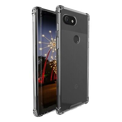 Google Pixel 3a amCase Protective TPU Crystal Hybrid Bumper Case/Cover (Clear)