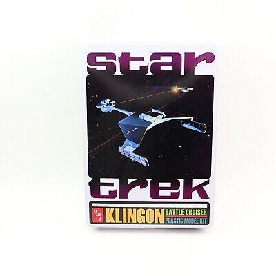 Plastic Model Kit NIB AMT 699 Klingon Battle Cruiser in Collectors Tin