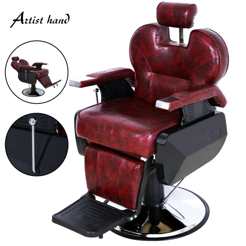 Heavy Duty Barber Chair Hydraulic Recline Salon Beauty All Purpose Equipment