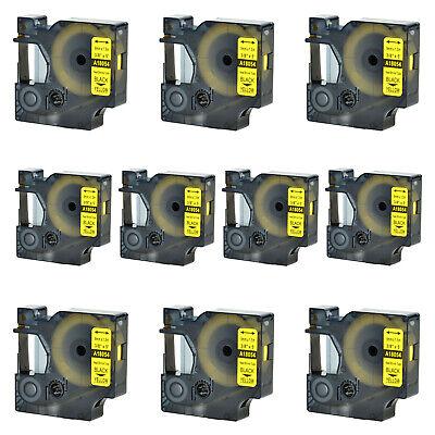 10x For Dymo Rhino 42005200 Heat-shrink Tube 18054 Industry Label Tape 38x5