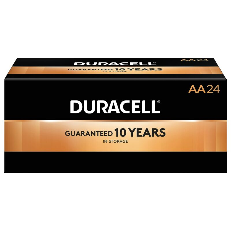Duracell Coppertop AA Alkaline Batteries 24/Pack (MN1500BKD) 2768001