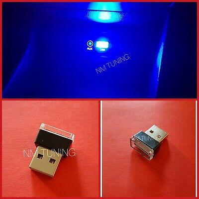 Mini LED USB Auto Beleuchtung BLAU Ambiente Innenraumbeleuchtung Licht Neu Blau Usb Mini