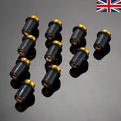 UK STOCK 10X 5MM MOTORCYCLE CNC WINDSCREEN BOLTS SCREWS FOR APRILIA TU