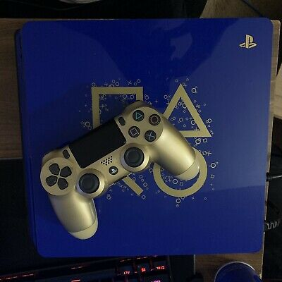Sony PlayStation 4 Slim 1TB Days of Play Blue Limited Edition READ