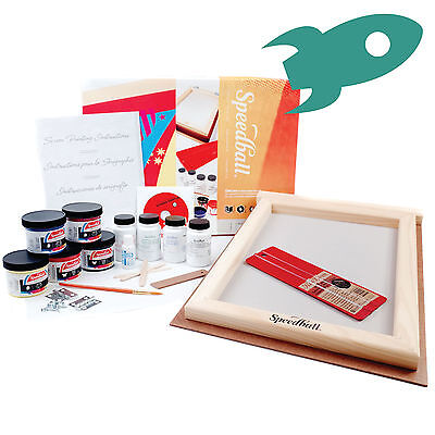 Speedball Deluxe Screen Printing Kit - Fabric, Paper, Card - Everything you need