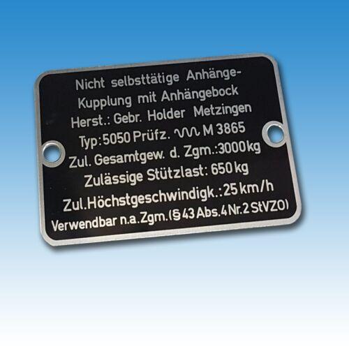 Holder Typenschild Schild für Zugmaul A 30 A 45 A 55 B 40 B 4 Traktor Schlepper Foto 1