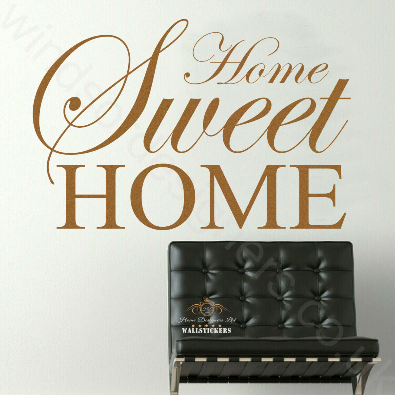 home sweet home interiors home sweet home wall sticker quote large decor ebay 18435