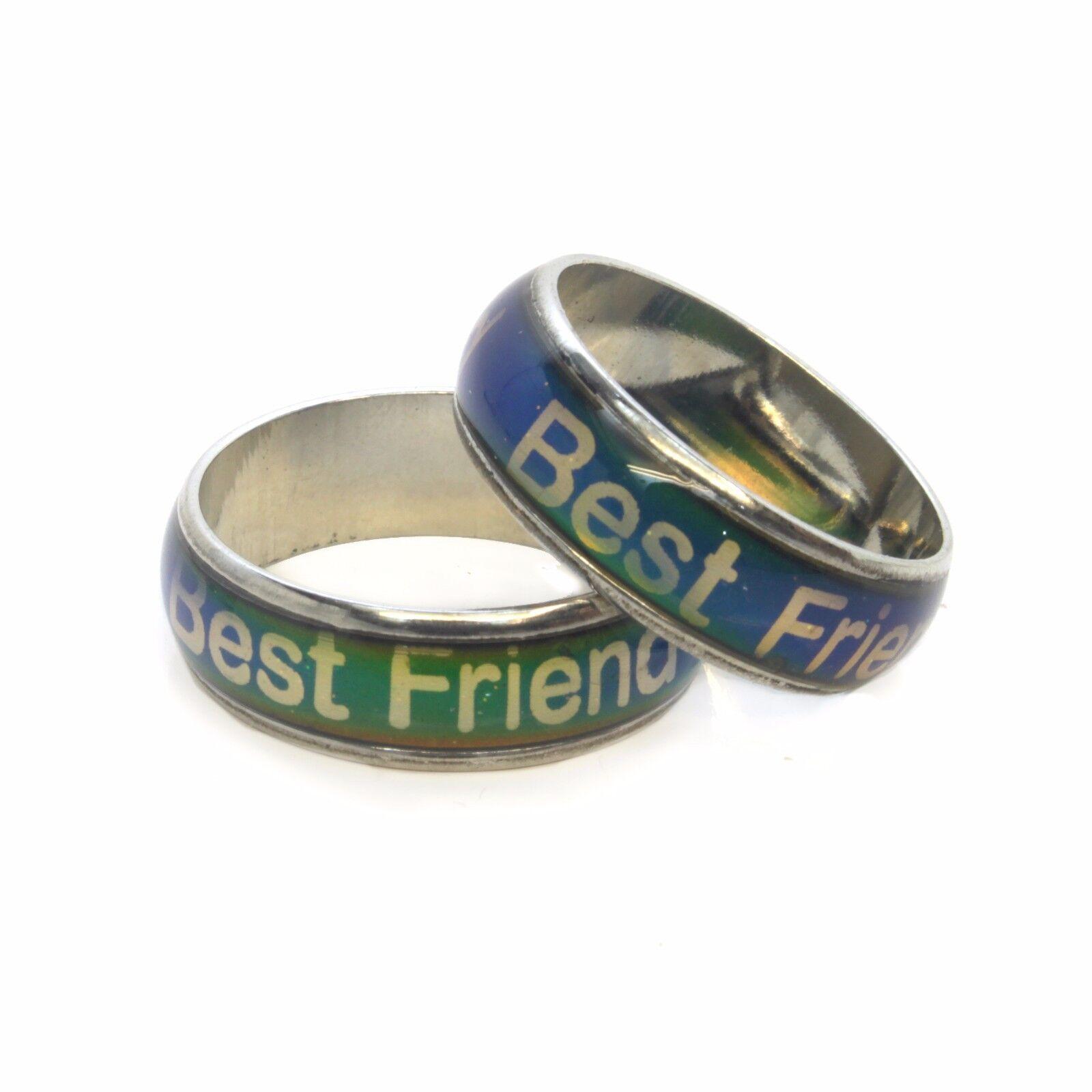 """2 x """"Bester Freund"""" BFF Freundschaft Ehering Thermochromie"""