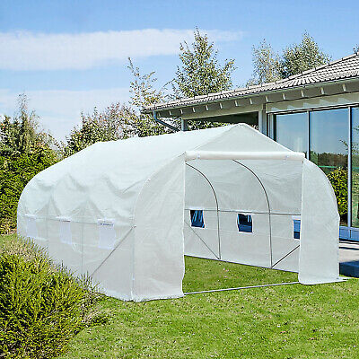 Outsunny Walk-in Tunnel Greenhouse Gardening Planting Shed Heavy Duty Warm House