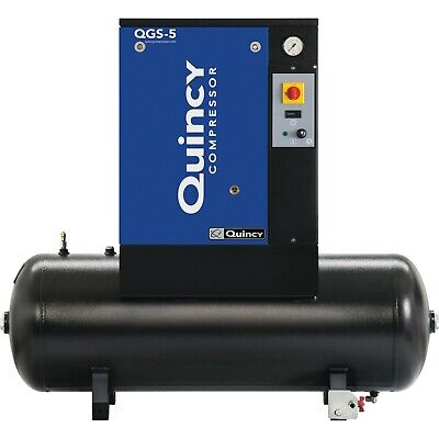 2020 Quincy Qgs-5 Rotary Screw Air Compressor 5 Hp With 60 Gallon Tank