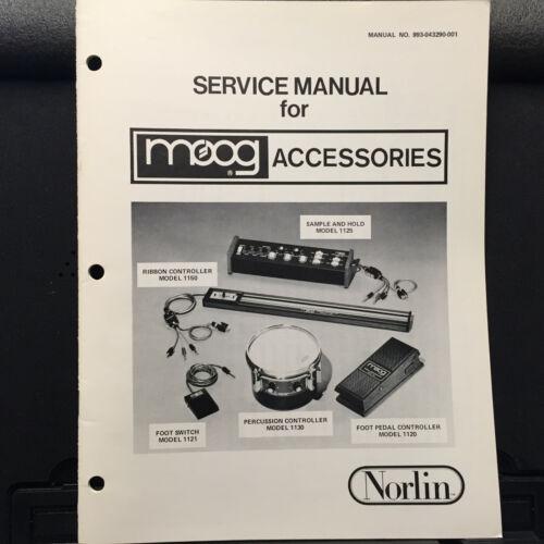 Service Info Manual for Moog Norlin 1150 1125 1121 1130 1120 Controller Pedal