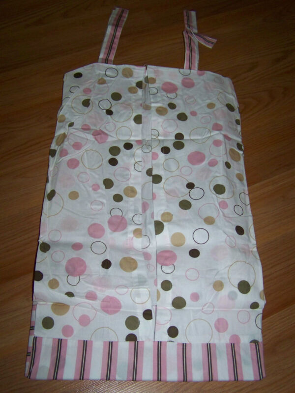 Sumersault Infant Baby Diaper Stacker Bubble Fun Pink Circles Dots Stripes New