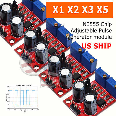 Ne555 Pulse Module Frequency Duty Cycle Adjustable Square Signal Generator