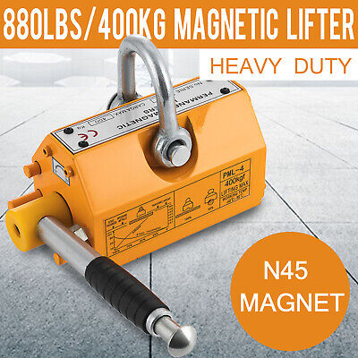 Steel Magnetic Lifter 880lb Metal Lifting Magnet 400kg Neodymium Magnetic Lift
