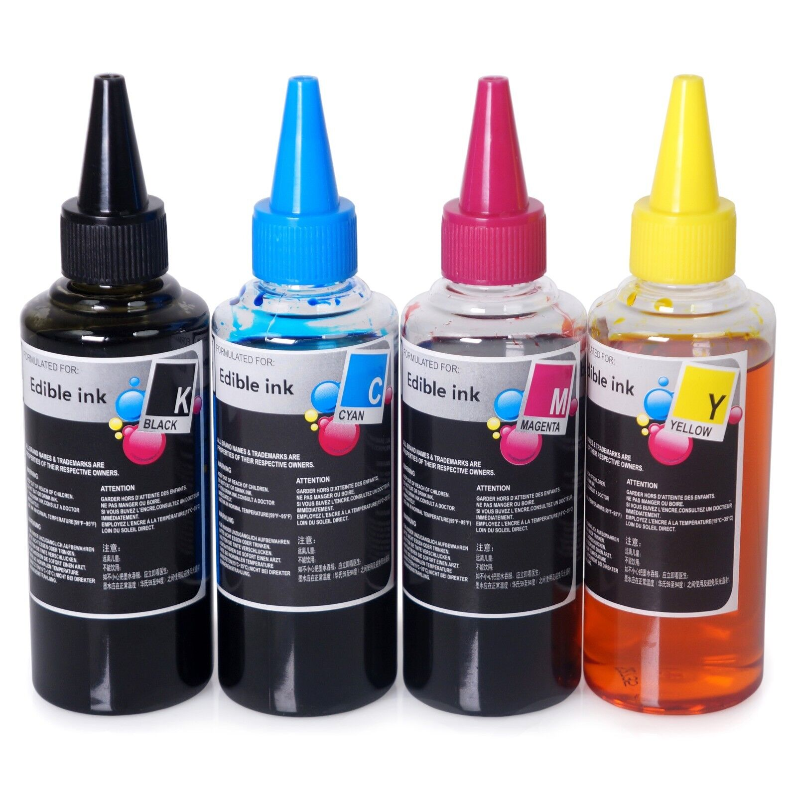 Details about Edible Ink Refill Bottle Set 13.5 oz (400ml) 4 Color for  Canon & Epson Printers