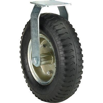 Ironton 12in. Rigid Pneumatic Caster - 450-lb. Capacity Lug Tread