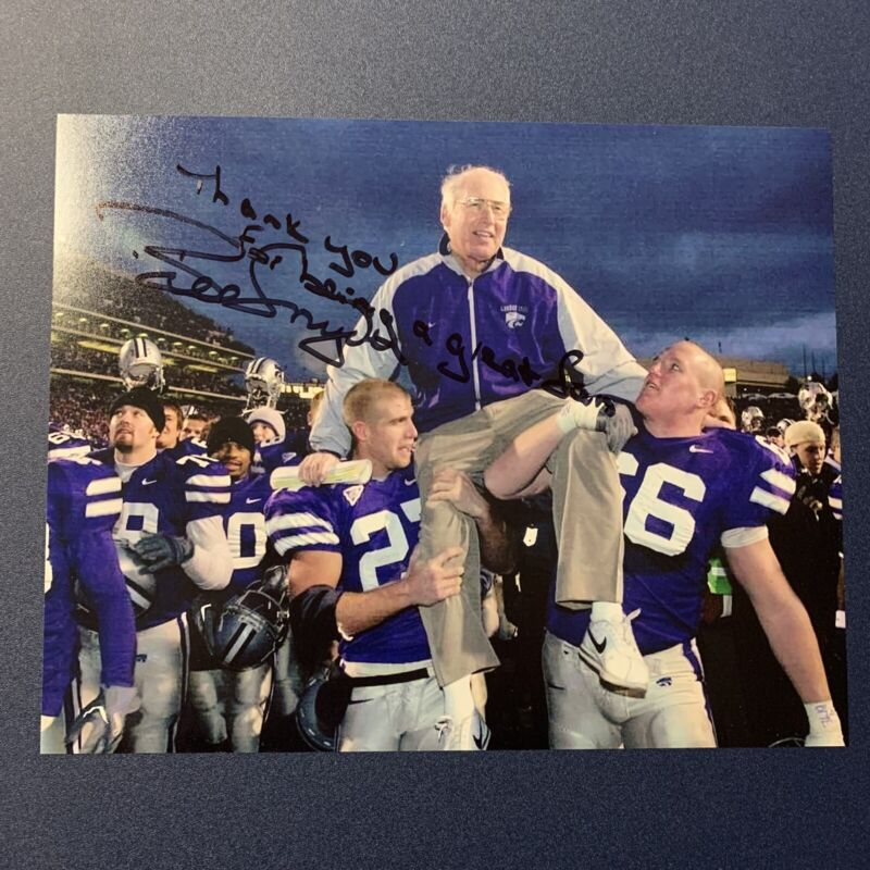 BILL SNYDER SIGNED 8x10 PHOTO KANSAS STATE WILDCATS HEAD COACH AUTOGRAPHED COA