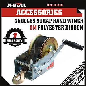 X-BULL 2500LBS/1136KGS 2-Speed Strap Hand winch For Boat, Trailer and 4WD