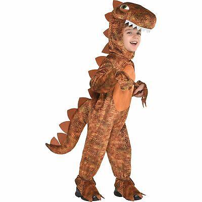 Toddler Boy Dinosaur Costume (Toddler Boys T Rex Costume Size 3-4T Halloween Dinosaur Hooded)