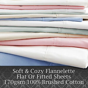 Luxury soft 100 brushed cotton flannelette flat fitted for Furniture 30cm deep