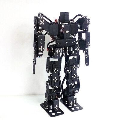 17DOF Biped Robotic Educational Robot Kit Servo Bracket Ball Bearing Black for sale  China