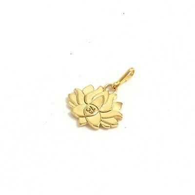 Alex and Ani 14K Gold Plated Sterling Silver LOTUS PEACE PETALS Necklace Charm -