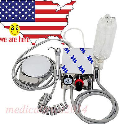 Portable Dental Turbine Unit Handpiece Compressor 4h Air Water Syringe Bottle