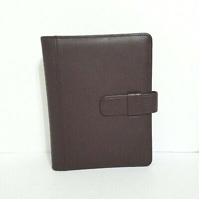 Day Timer Brown Leather Planner 7 Ring Binder Vintage Address Book And Paper
