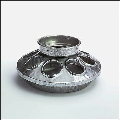 Galvanized Metal Baby Chicken Chick Feeder Base Fits Small Mouth Qt Jar