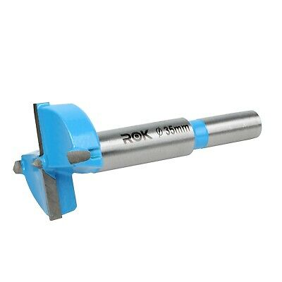 Rok Hardware Forstner Tip Hinge 35mm Dia Boring Bit Drill for Carpentry Blue
