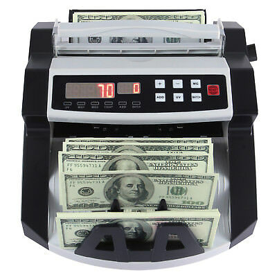 Money Bill Cash Counter Counting Machine Bank Uv Mg Counterfeit Detector