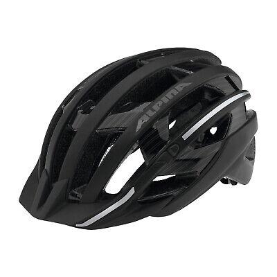 Alpina Casco Bicicleta E-Helm de Lujo/Reflejo ~ Talla 57-61 CM Negro