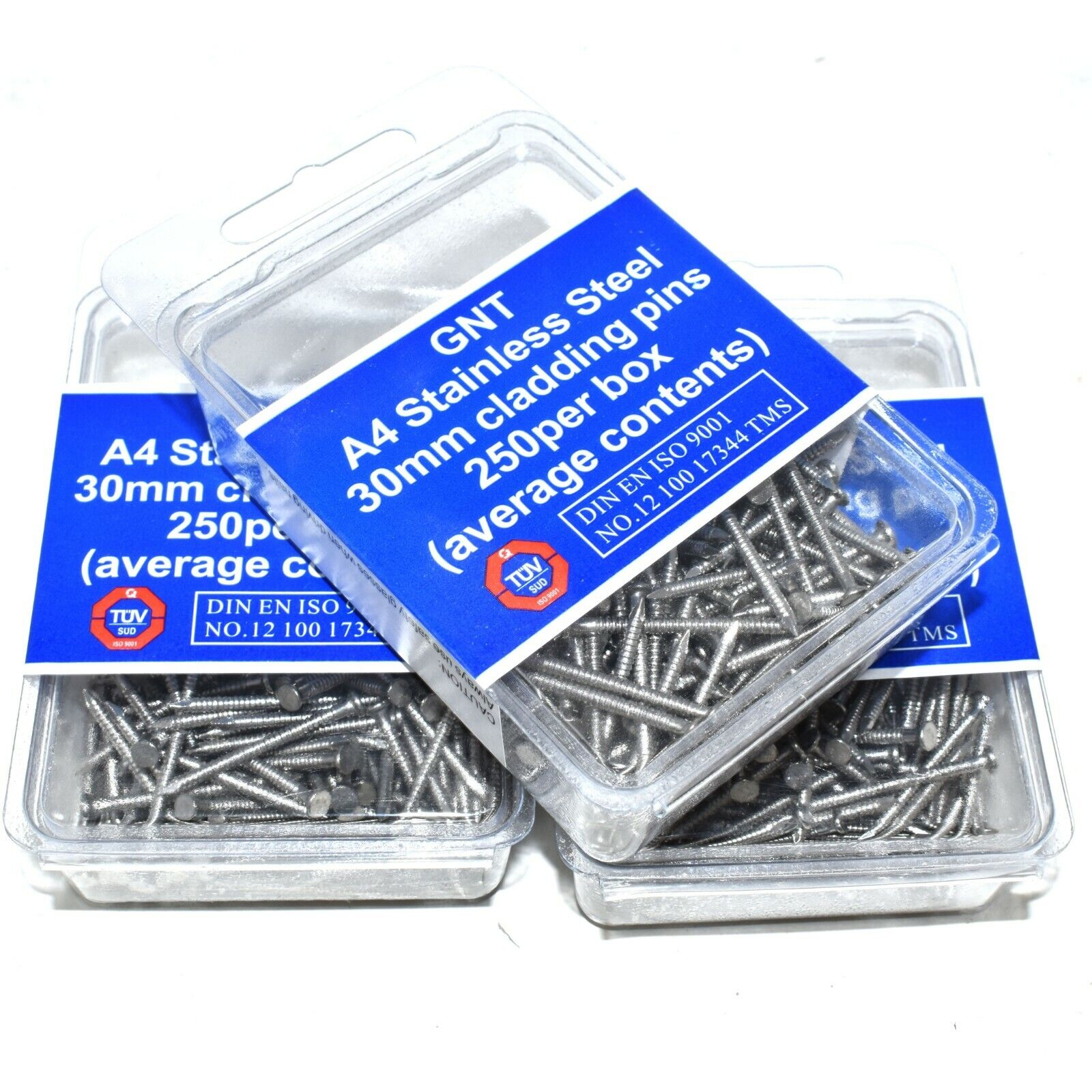 25mm BLACK POLYTOP STAINLESS STEEL PINS FASCIA BOARD POLYAMIDE * PACK OF 25