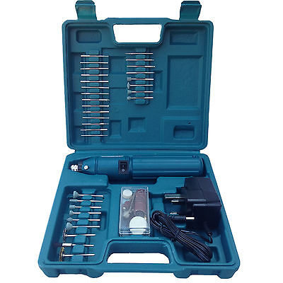 CORDLESS DREMEL TYPE HOBBY ROTARY MINI TOOL DRILL + CASE + 60 ACCESSORIES