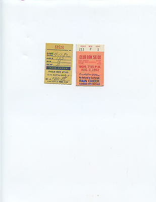 (2) 1982 KANSAS CITY ROYALS vs. DETROIT TIGERS TICKET STUBS (BRETT HOME RUN)