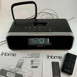 iHome IA91 Dual Alarm Clock Speaker Radio 30-pin Docking Station iPod & Charger