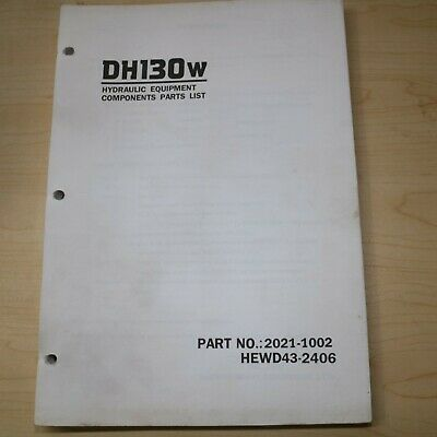 Daewoo Dh130w Wheel Mounted Excavator Component Parts Manual Book List Dh 130 W