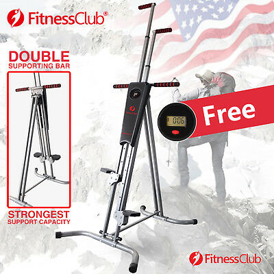 Used, FitnessClub Vertical Climber Machine Cardio Exercise Stepper Workout Equipment for sale  USA