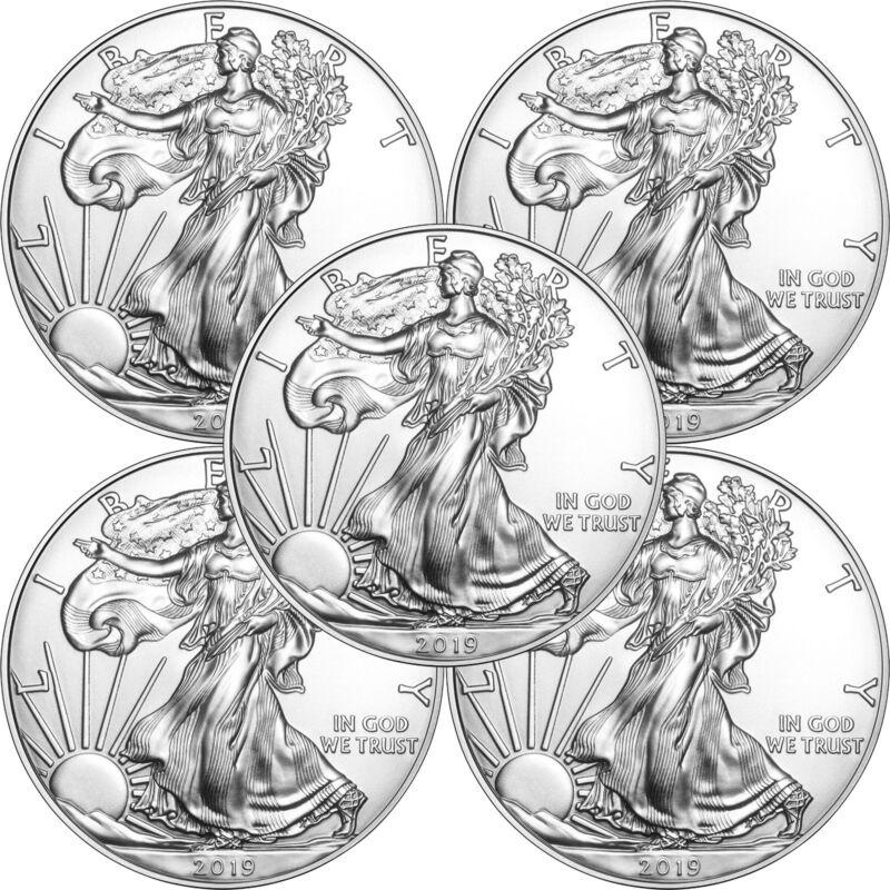 2019 Silver American Eagle BU 5pc