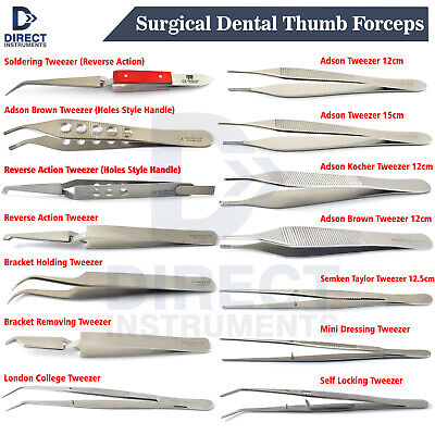 Medentra Surgical Tooth Forceps Medical Tweezers Dental Orthodontic Brackets Lab