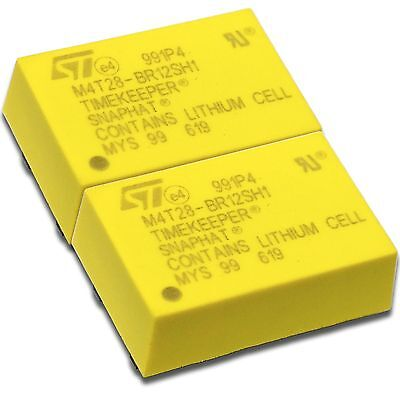 X2 Stmicroelectronics M4t28-br12sh1 Snaphat Battery Datex-ohmeda 197230