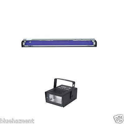 "Eliminator 24"" Blacklight & Micro Strobe dj club ultraviolet light - Blacklight Strobe"