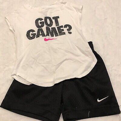 Nike Toddler Girls Two Piece Short Set Sz -