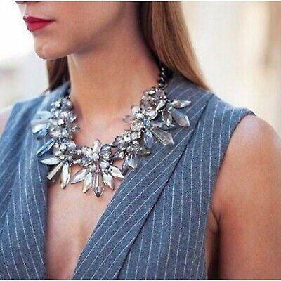 Zara Crystal Flower Statement Necklace