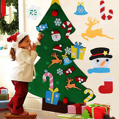 DIY Felt Christmas Tree Set with Ornaments for Kids Xmas Gifts New Year Decor ()